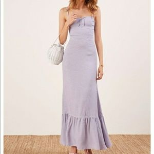 Reformation Prairie Dress in Lilac